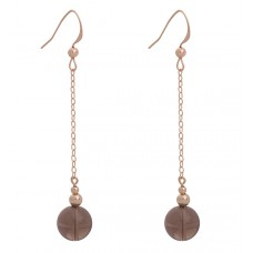 Contour Sphere Earrings with Smoky Quartz