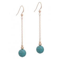 Contour Sphere Earrings with Turquoise