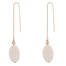 Osseous Oval Chain Earrings
